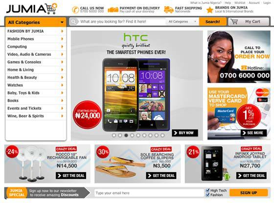 Jumia-phones-site